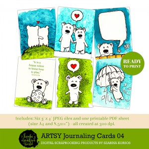 ArtsyJournalingCards04 - kis mackók - little bears