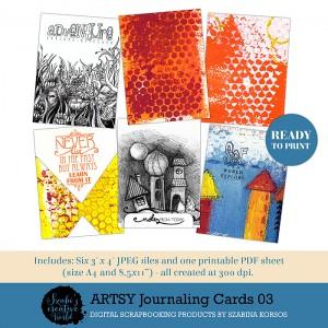 ArtsyJournalingCards03 - inspirló rajzok és idézetek