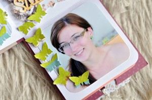 Születésnapi dobozalbum (részletfotó)