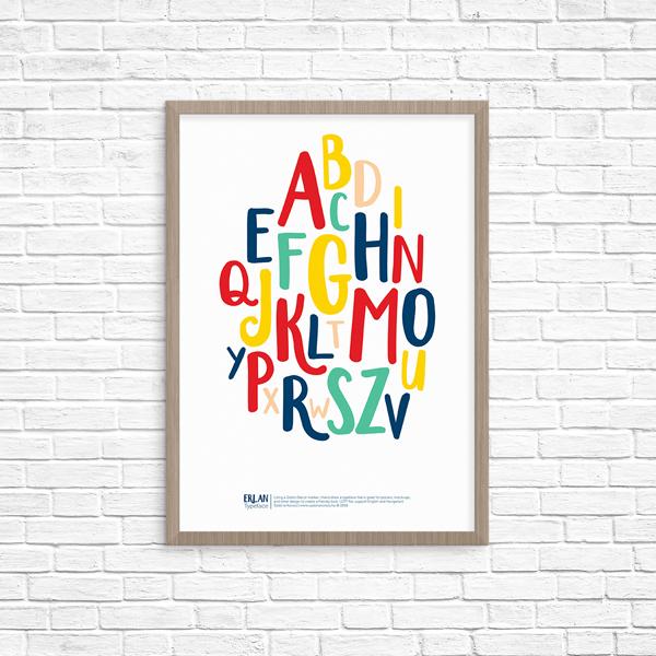Erlan_free-font_poster_szabinakorsos_A4_web
