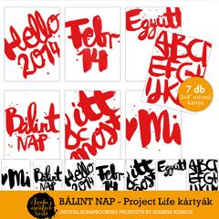 Nyomtatható Ajándékkártyák Project Life kártyák Valentin napra