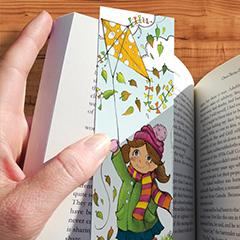 Nyomtatható könyvjelző kisfiúknak kislányoknak