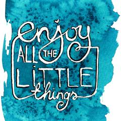 Letölthető, nyomtatható 'Enjoy little things' kártya