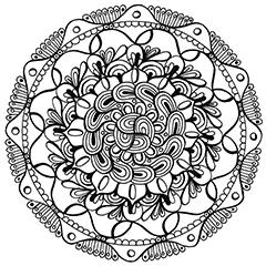 Mandala színező