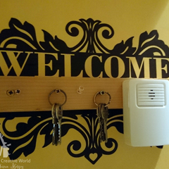 'Welcome' kivágóminta Silhouette géphez
