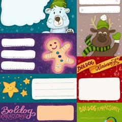 Nyomtatható karácsonyi ajándékcímkék