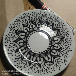 porcelán filctoll bögrére rajzolás írás