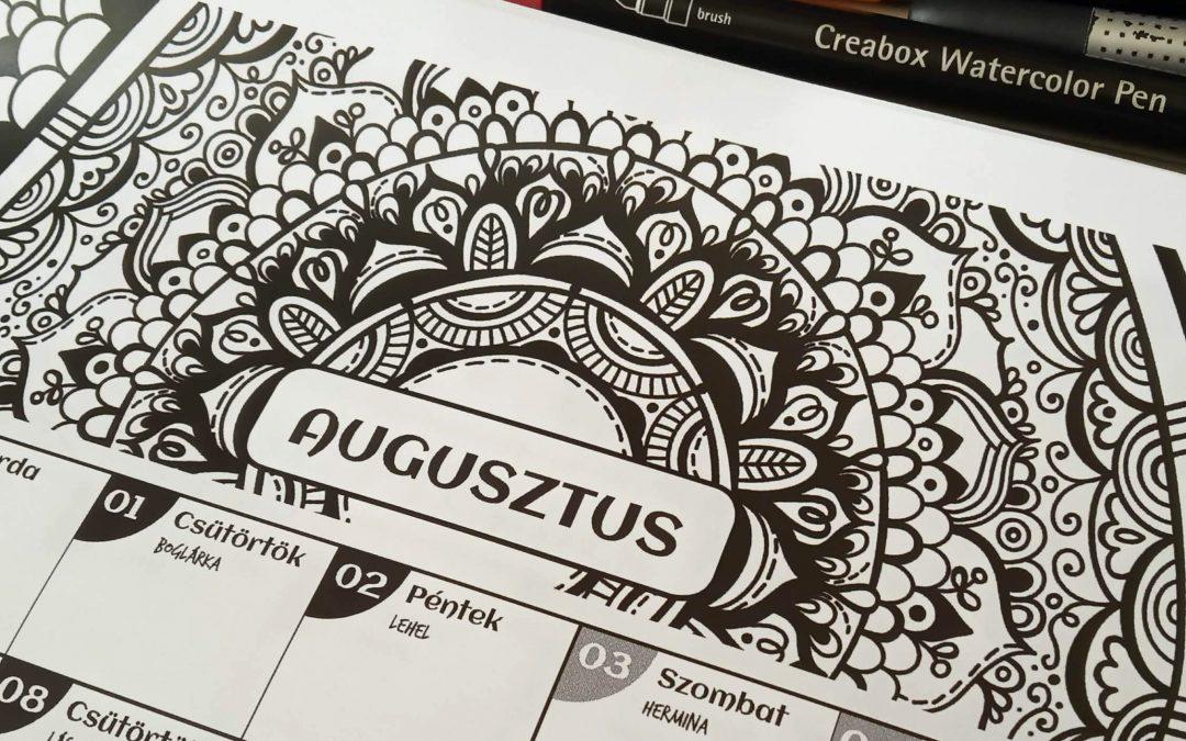 Letölthető mandala naptár :: Augusztus