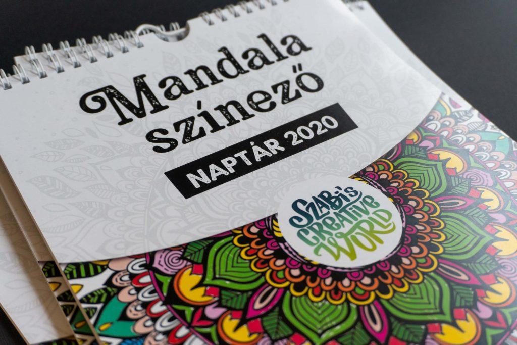 Mandala színező falinaptár 2020 (borító)
