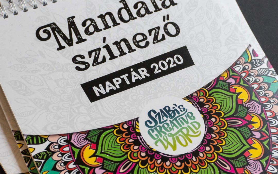 Mandala színező falinaptár, 2020-ra