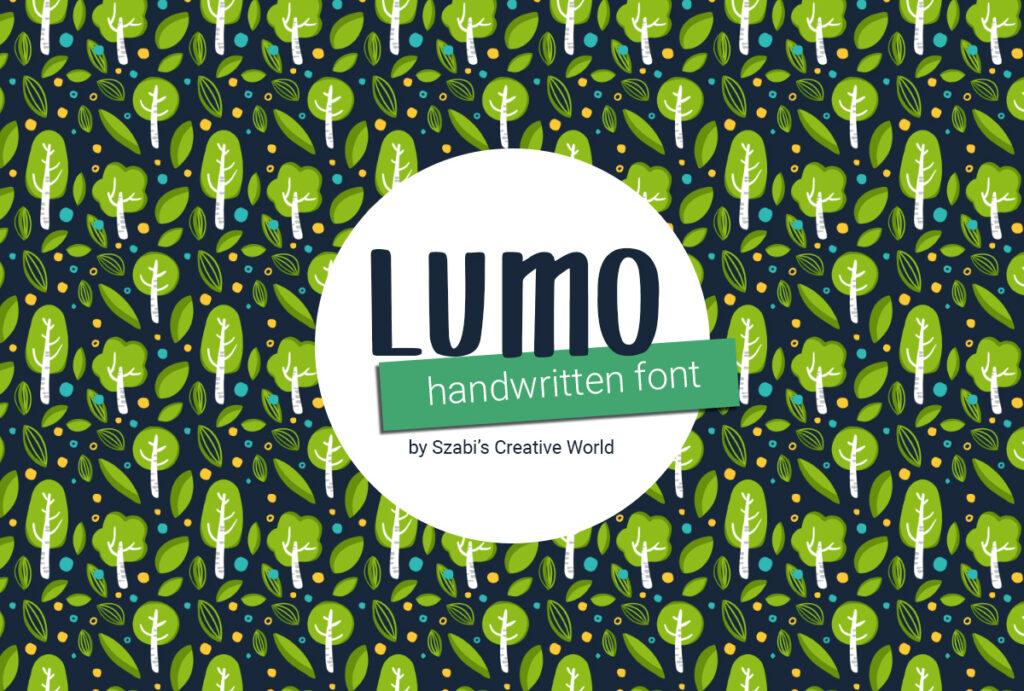Lumo SCW Handwritten font - ingyen letölthető kézírásos betűtípus