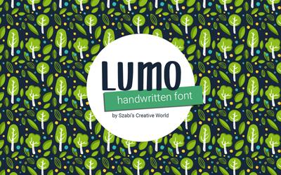 Legújabb betűtípusom: Lumo, most ingyen letölthető